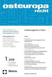 Weyer Rechtsanwaltsgesellschaft mbh: Publikationen Cover Osteuropa Recht